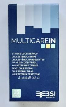 Cholesterin Teststreifen für Multicare IN