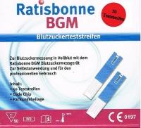 Ratisbonne BGM Glukose Blutzuckersteststreifen 50Stück
