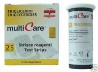 Triglyceride Teststreifen für MultiCare